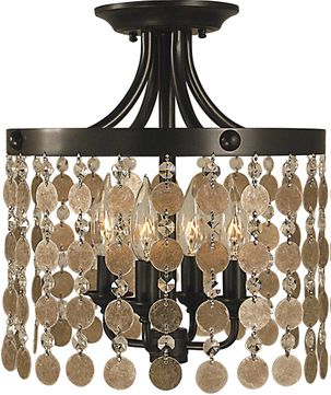 Framburg 2482 Naomi Contemporary Flush Ceiling Light Fixture