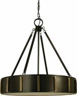 Framburg 4594 Pantheon Modern 23  Drum Pendant Lighting Fixture
