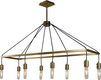 Framburg 5023-AB Celestial Modern Antique Brass Kitchen Island Light Fixture