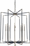 Framburg 5048-PN-MBLACK Felicity Contemporary Polished Nickel with Matte Black Accents Foyer Lighting