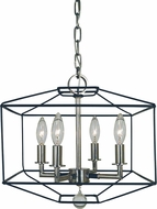 Framburg 5304-MBLACK-PN Isabella Modern Polished Nickel with Matte Black Accents 13  Foyer Lighting Fixture