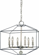 Framburg 5306-MBLACK-PN Isabella Modern Polished Nickel with Matte Black Accents 20  Entryway Light Fixture