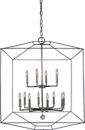 Framburg 5308-MBLACK-PN Isabella Modern Polished Nickel with Matte Black Accents 30  Foyer Lighting