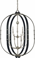 Framburg 5319-BN-MBLACK Urban Craftsman Contemporary Brushed Nickel/Matte Black 35  Foyer Lighting Fixture