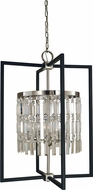 Framburg 5332-BN-MBLACK Hannah Contemporary Brushed Nickel/Matte Black 23  Entryway Light Fixture