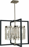Framburg 5335-BN-MBLACK Hannah Contemporary Brushed Nickel/Matte Black Pendant Light