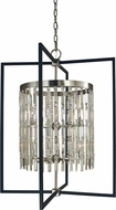 Framburg 5338-BN-MBLACK Hannah Contemporary Brushed Nickel/Matte Black 32  Foyer Lighting