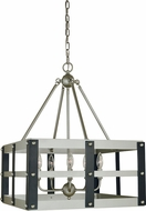 Framburg 5346-SP-MBLACK Metro Artisan Contemporary Satin Pewter/Matte Black Lighting Pendant