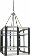 Framburg 5347-SP-MBLACK Metro Artisan Modern Satin Pewter/Matte Black 20  Foyer Light Fixture