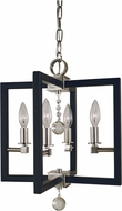 Framburg 5362-PN-MBLACK Minimalist Elegant Contemporary Polished Nickel/Matte Black Entryway Light Fixture