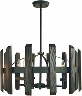 Framburg 5375-MBLACK Modern Farmhouse Contemporary Matte Black Hanging Lamp