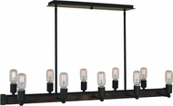 Framburg 5402-MBLACK Modern Farmhouse Modern Matte Black Island Lighting