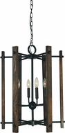 Framburg 5406-MBLACK Modern Farmhouse Contemporary Matte Black 20  Entryway Light Fixture