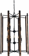 Framburg 5408-MBLACK Modern Farmhouse Contemporary Matte Black 32  Foyer Lighting