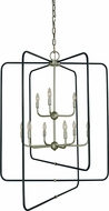 Framburg 5429-SP-MBLACK Montrose Contemporary Satin Pewter With Matte Black Foyer Light Fixture