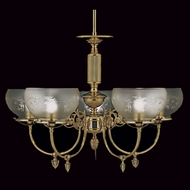 Framburg 7525-PB Chancery Traditional Polished Brass Chandelier Lamp