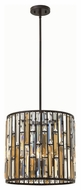 Fredrick Ramond FR33734VBZ Gemma Modern Vintage Bronze Finish 15.75  Tall Drum Pendant Lighting Fixture