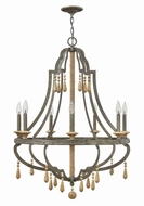 Fredrick Ramond FR42287DIR Cordoba Distressed Iron Chandelier Light