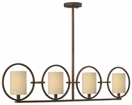 Fredrick Ramond 42402BRC Pandora 4-Light 44.5 Inch Long Kitchen Island Lighting
