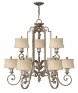Fredrick Ramond 42728SLF Kingsley Large 9-lamp Antique Chandelier with Shades