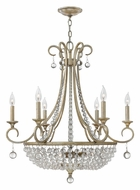 Fredrick Ramond 43758SLF Caspia Small 9-lamp Traditional Candle Chandelier