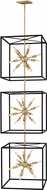 Fredrick Ramond 46318BLK Aros Contemporary Black Foyer Light Fixture