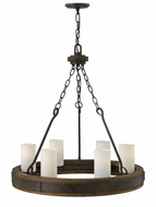 Fredrick Ramond FR48436IRN Cabot Rustic Iron Chandelier Light