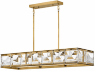 Fredrick Ramond FR30106HBR Jolie Contemporary Heritage Brass LED Kitchen Island Lighting