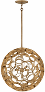 Fredrick Ramond FR30144BNG Centric Contemporary Burnished Gold LED 22 Drop Ceiling Light Fixture