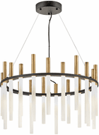 Fredrick Ramond FR30706BLK Echo Modern Black LED Hanging Chandelier