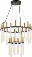 Fredrick Ramond FR30708BLK Echo Modern Black LED Chandelier Light