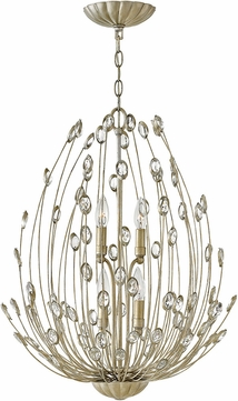 Fredrick Ramond FR31024SLF Tulah Silver Leaf Mini Chandelier Lighting