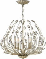 Fredrick Ramond FR31025SLF Tulah Silver Leaf Lighting Chandelier