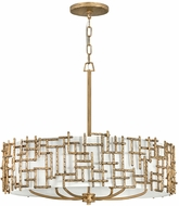 Fredrick Ramond FR33104BNG Farrah Contemporary Burnished Gold Drum Ceiling Pendant Light