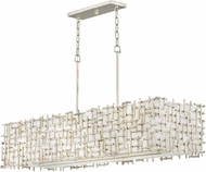Fredrick Ramond FR33105SLF Farrah Contemporary Silver Leaf Kitchen Island Lighting
