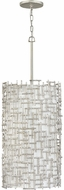 Fredrick Ramond FR33108SLF Farrah Modern Silver Leaf Drop Lighting Fixture