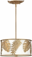 Fredrick Ramond FR35104BNG Botanica Contemporary Burnished Gold Drum Lighting Pendant