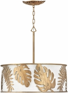 Fredrick Ramond FR35105BNG Botanica Contemporary Burnished Gold Drum Pendant Lamp