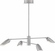 Fredrick Ramond FR35804BNI Bowery Contemporary Brushed Nickel LED 39  Chandelier Light