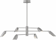 Fredrick Ramond FR35806BNI Bowery Contemporary Brushed Nickel LED 50  Hanging Chandelier