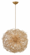 Fredrick Ramond FR36504ANG Ion Contemporary Anodized Gold Finish 22 Inch Diameter Wire Ball Pendant Light