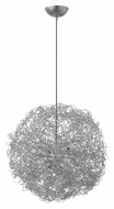 Fredrick Ramond FR36504ANS Ion Anodized Silver Wire Ball 22 Inch Diameter Contemporary Drop Lighting