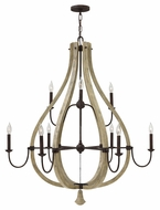 Fredrick Ramond FR40578IRR Middlefield Large Rustic Style 41 Inch Diameter 9 Light Chandelier