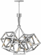 Fredrick Ramond FR42444PNI Ensemble Modern Polished Nickel Ceiling Chandelier
