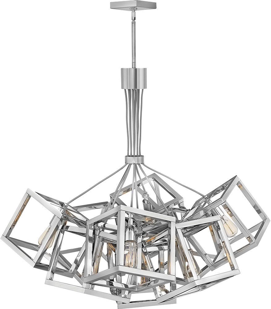 Fredrick Ramond Fr42445pni Ensemble Contemporary Polished Nickel Hanging Chandelier
