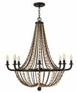 Fredrick Ramond FR42868VBZ Hamlet 34 Inch Diameter Vintage Bronze 8 Candle Chandelier Light