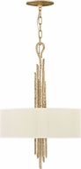Fredrick Ramond FR43414CPG Spyre Contemporary Champagne Gold Drum Pendant Lamp
