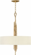 Fredrick Ramond FR43415CPG Spyre Contemporary Champagne Gold Drum Hanging Light