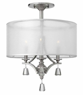 Fredrick Ramond FR45601BNI Mime Brushed Nickel Finish 22 Inch Tall Ceiling Lighting