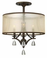 Fredrick Ramond FR45601FBZ Mime French Bronze Finish 22 Inch Tall Semi Flush Mount Lighting